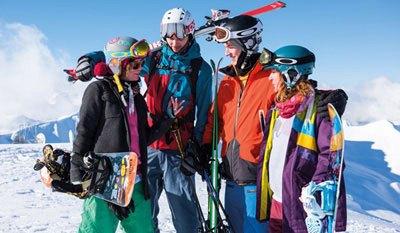 skigebieden voor vrienden groepen